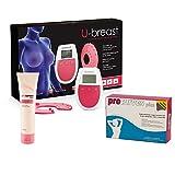 U-Breast + Procurves Plus und Cream: Elektrostimulationsgerät, Tabletten und Creme zur Brustvergrößerung und Straffung