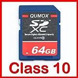 64GB QUMOX SD XC 64 GB Class 10 Secure Digital Memory Card