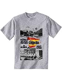 teesquare1st SPAIN CORDOBA Camiseta Gris para hombre de algodonSize XLarge