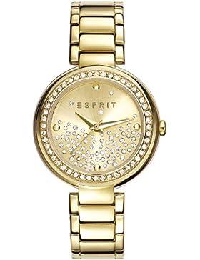 Esprit Damen-Armbanduhr Leila Analog Quarz Edelstahl ES106022006