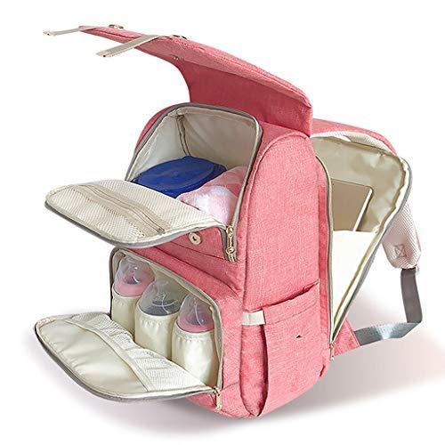 Windel Wickeltasche Rucksack - große Wickeltaschen Multi-Funktions-wasserdichte Mutterschaft Wicker Back Pack für Baby Care, stilvolle und langlebig 42 * 16 * 28cm (Farbe : Pink)