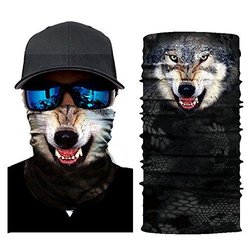 AmyGline Radfahren Motorrad Kopftuch Halswärmer Gesichtsmaske Ski Balaclava Stirnband MaskDust Scarf
