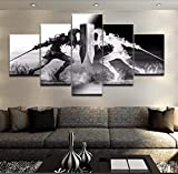 XLST Wandkunst Wikinger Bilder Home Decor 5 Stücke Legend of Zelda Leinwand Malerei Wohnzimmer HD Gedruckt Cartoon Spiel Poster,A,30x40x2+30x60x2+30x80x1