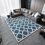 JANRON-Carpet Teppich Geometrie Nordic Einfache Moderne Mediterrane Wohnzimmer Couchtisch Schlafzimmer Nachttischmatte (80 * 160Cm),#8,140CM*200CM
