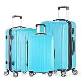 Fochier Conjunto de 3 piezas de equipaje Expandible Hard Shell Spinner maleta ligero TSA Lock(20'...