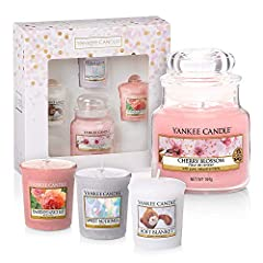 Idea Regalo - YANKEE CANDLE Everyday Gift Set | Small Jar & 3 Candele Votive, Nylon