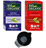 #4: 100% Organic Henna and Indigo Powder Pack of 2 - 200gm with Hair Colouring Bowl
