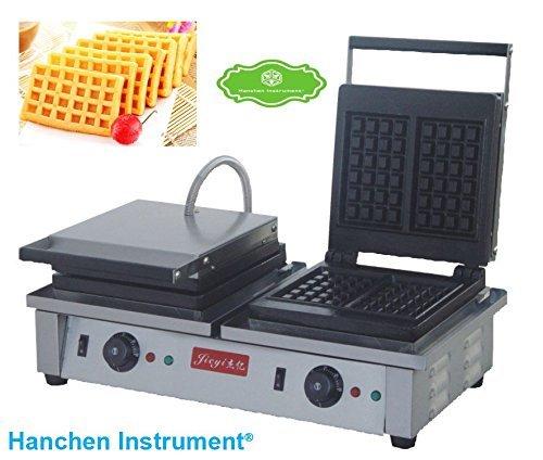 fy-2202Commercial Elektrische Antihaft-Double Slider Platz Waffle Maker ist Maschine Toaster Baker (220V)