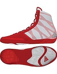 adidas Pretereo III de lucha libre zapatos, 15 D(M) US, Red/Silver/White