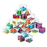 FutureShapers 24Pcs Labyrinthe Jeu Casse tête Puzzle 3D Calendrier de L'Avent Jeux Logiques Jeu de Patience pour Enfants et Adulte