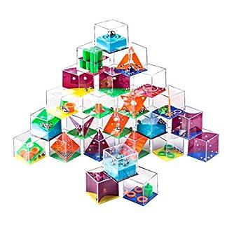 YVSoo 24Pcs Rompecabezas Calendario Adviento Laberinto Juegos de Habilidad Puzzle 3D Rompecabezas Juegos de Ingenio para Niños Adultos
