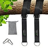 SUNMAY Tree Swing Hanging Straps(2 Packs), Swing Hanging Kit Non-Stretch with Safety Lock Carabiner Hooks for Swings and Hammocks, Holds up to 2200Lbs