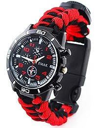 LYZZGZZ Relojes de Pulsera Deportes al Aire Libre Ocio Paraguas Cuerda Tejido Reloj