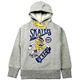 #8: Quotee Winter Exclusive Boy's Graphic Printed Grey Melange Fleece Hoodie Pullover Sweatshirt by GlamFolio IPL