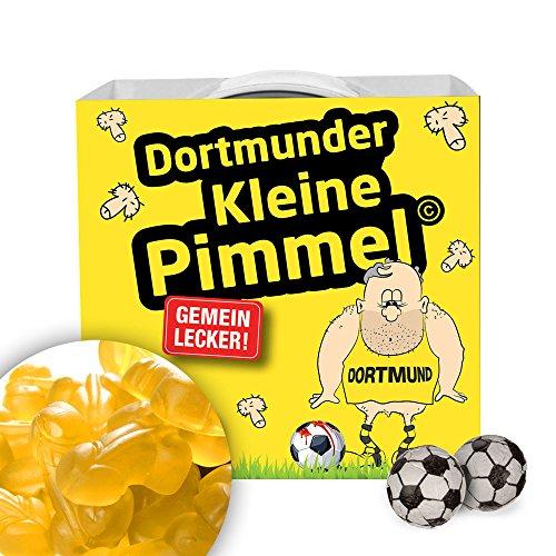 Dortmunder Kleine Pimmel | Gemein leckere Fruchtgummi, inklusive Messlatte zum lachen & vergleichen | Achtung: Schalke-, Bayern- & alle Fußball-Fans aufgepasst, so schön kann Fußball sein