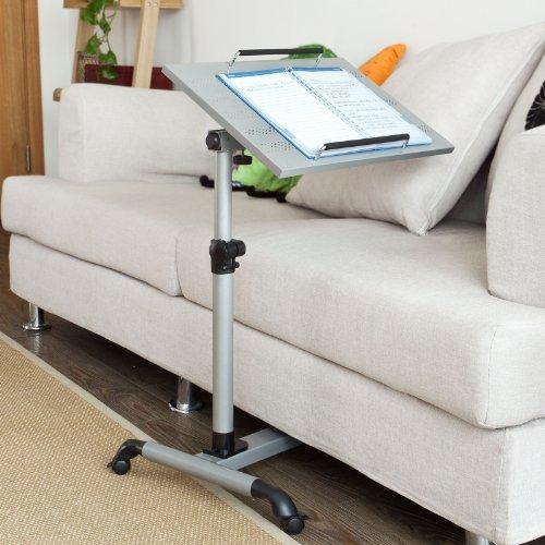 SoBuy® mesa auxiliar con ruedas, mesas de centro, mesas para portatiles, mesitas de noche,