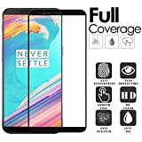 SuperdealsForTheinfinity 5D Edge to Edge Full Glue Front Body Cover Tempered Glass Screen Protector Guard for OnePlus 5T (Black)