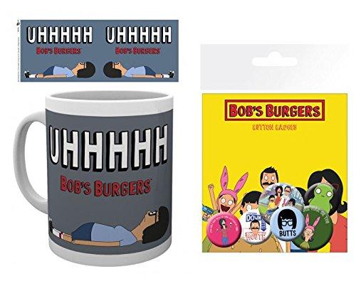 Set: Bob's Burgers, Tina Uhhhhh Foto-Tasse Kaffeetasse (9x8 cm) Inklusive 1 Bob's Burgers Button Pack (15x10 cm) (Burgers Tina Von Bobs)