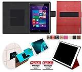 reboon Hülle für Hewlett Packard Pro Tablet 608 Tasche Cover Case Bumper   in Rot Leder   Testsieger