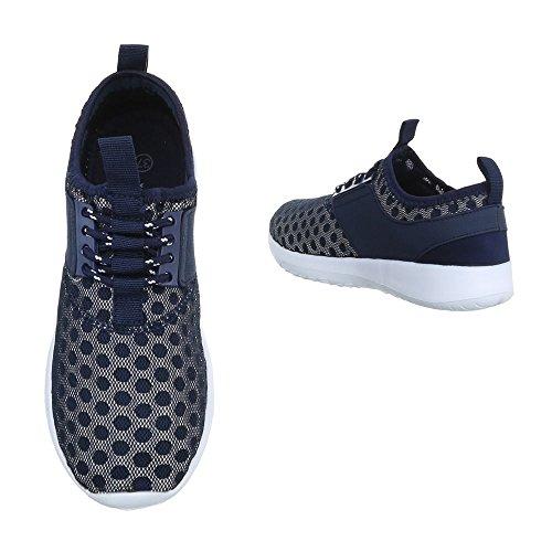 Ital-Design, Sneaker donna Dunkelblau QH-7