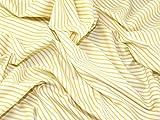 Inlett Stripe Print Baumwolle Popeline Stoff gelb–Meterware + Frei Minerva Crafts Craft Guide