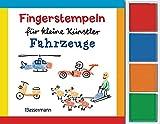 Fingerstempeln für kleine Künstler-Set - Fahrzeuge: Mit vier Fingerstempelfarben