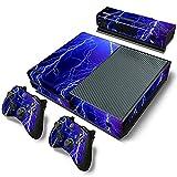 Stillshine Xbox ONE Design Folie Aufkleber für Konsole + 2 Controller + Kamera Sticker Skin Set (Violet Lightning)