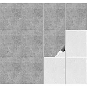 FoLIESEN Fliesenaufkleber 20x25 cm - Fliesen-Folie Bad - Klebefolie Küche - Dekor Greydi - 15 Klebefliesen