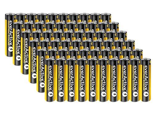 60 Stück Everactive INDUSTRIAL Batterien Mikro AAA 1100 mAh 1,5 V LR03 Alkaline