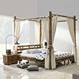 Möbel Bressmer Bambus Himmelbett 140x200 Tabanan HonigAntik Bett mit Himmel 140 x 200 Himmelbetten natur Holz Bambusbett Bambusbetten 140x 200