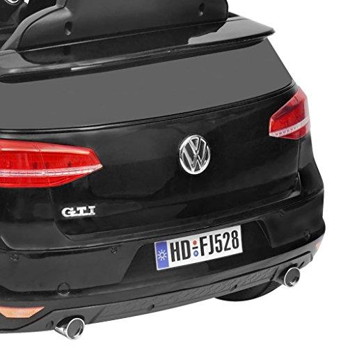RC Auto kaufen Kinderauto Bild 6: SENLUOWX Kinderauto Elektroauto VW Golf GTI 7 schwarz 12 V Kinderfahrzeug Kinderauto mit Fernbedienung*