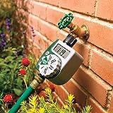 Somedays Bewässerungscomputer MultiControl duo: Automatische Bewässerungssteuerung, Wochentage programmierbar,Bewässerungszyklus und Bewässerungszeiteinstellung, mit LC-Display