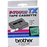 Brother TX7511 1in Black on Green P-Touch Tape by Brother Printer