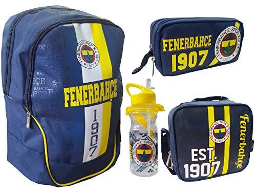 7982597363 Fenerbahce Rucksack Umhängetasche Trinkflasche Schuletui Kinder Ausflug  Sport Fußball Schule FB 1907 Schulanfang - 4 Teile