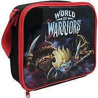 Preisvergleich für World Of Warriors Kinder Retro Lunch-Tasche, Isoliert (Einheitsgröße) (Schwarz/Rot)