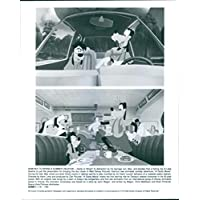 """Vintage photo of Two scenes from a 1995 American animated musical road comedy film, """"A Goofy Movie""""."""