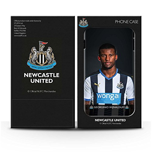 Offiziell Newcastle United FC Hülle / Matte Snap-On Case für Apple iPhone 4/4S / Saivet Muster / NUFC Fussballspieler 15/16 Kollektion Wijnaldum