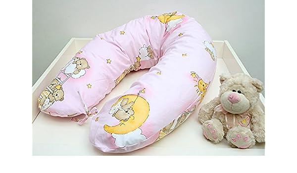Rawstyle xxl bezug für stillkissen bär auf leiter rosa baby