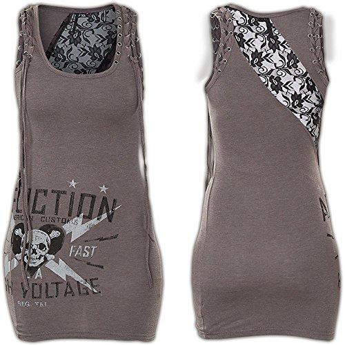 Affliction Kleid Lyle Dress Grau Grau