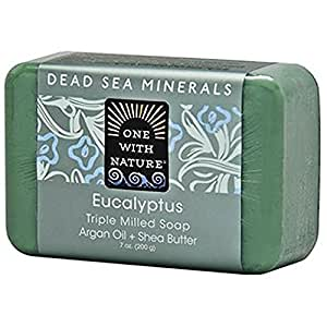 One With Nature Dead Sea Mineral Soap, Eucalyptus, 7 Ounce