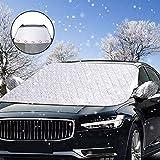 Windschutzscheibe Abdeckung, solawill Autoscheibenabdeckung Frostschutz Eisschutz Frontscheibenabdeckung Magnetische Faltbare Abnehmbare Winterschutz Abdeckung für Standard Auto