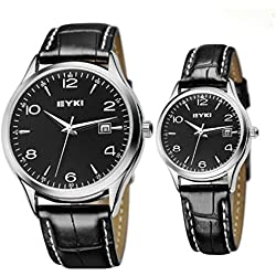 Leather Strap Watches Simple Popular Fashion Quartz Lovers Watch for Lovers