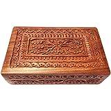 Cadeau de Noël ou d'anniversaire Vintage Boîte en bois de Carving, boîte de rangement (8X5inch), Jewelery Box, boîte de rangement Jewelery, boîte décorative