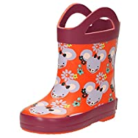 Clarks PlainCandy Infant Girls Mouse Print Wellies