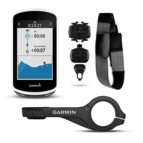 Garmin Edge 1030 GPS Fahrradcomputer Bundle, inkl. Premium HF-Brustgurt + Geschwindigkeits-/Trittfrequenz Sensor (010-01758-11) (Externer Akkupack und Schutzhülle Schwarz)