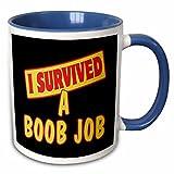 Mensuk mug_117578_1 I Survived a Boob Job Survival Pride and Humor Design Ceramic Mug, 11-Ounce