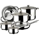 Magefesa Vesta - Batería de cocina, 10 piezas