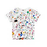 T-Shirts à Manches Courtes Garçon Filles Coton Cartoon Animal Summer Top 1-7 Ans...