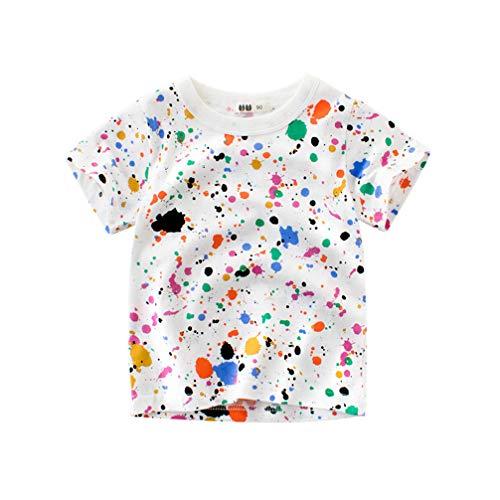 d9975470de7f T-Shirts à Manches Courtes Garçon Filles Coton Cartoon Animal Summer Top 1-7
