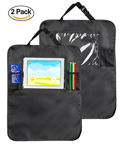 2 Hochwertige Rückenlehnenschutz / Sitzschoner / Organizer mit transparenter Tasche für das iPad / Tablet – Utensilientaschen für Kinder und Erwachsene zum Schutz von der Rückenlehne / dem (Disney Kostüm Halloween Auto)